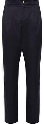 De Bonne Facture Pleated Cotton-Twill Trousers