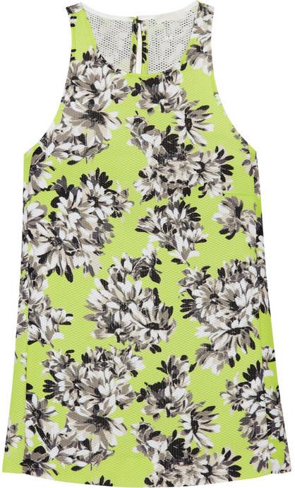 J.Crew Collection floral-print piqué top