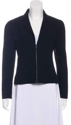 Chanel Wool Zip-Up Blazer