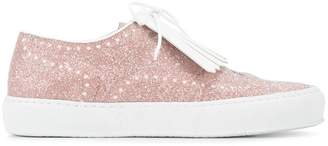 Robert Clergerie Tolka glitter fringed sneakers