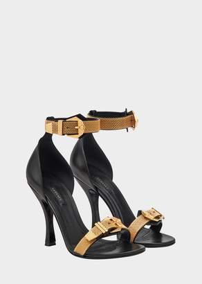 Versace Satin Strass Belt Sandals