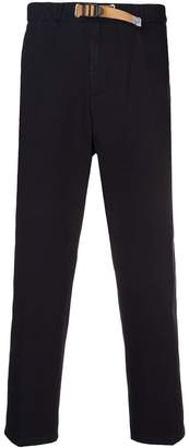 White Sand side stripe trousers