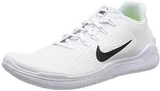 Nike Men's Free Rn 2018 Running Shoes, (White/Black 100), 45 EU