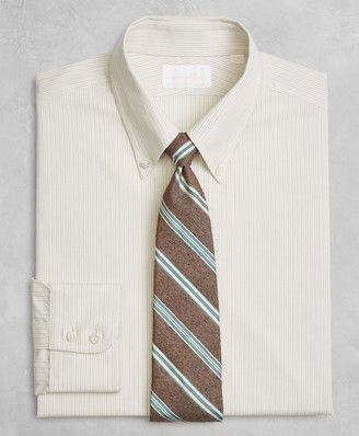 Brooks Brothers Golden Fleece Regent Fitted Dress Shirt, Button-Down Collar Alternating Dot Stripe