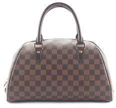 Louis VuittonLouis Vuitton Damier Ebene Coated Canvas Ribera MM Bowler Satchel Handbag MHL BY