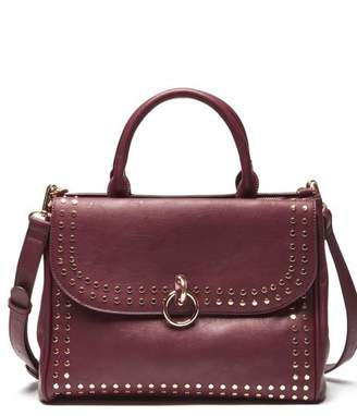 Sole Society Plam Satchel Vegan Studded Satchel