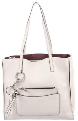 Marc Jacobs Leather Shopper Tote Grey Leather Shopper Tote
