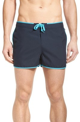Men's Original Penguin Earl Fixed Waist Swim Trunks $65 thestylecure.com