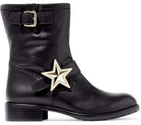 RED Valentino Embellished Leather Ankle Boots