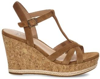 Ugg Suede Wedge Sandals Shopstyle Uk