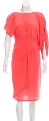 Fendi Asymmetrical Silk Dress