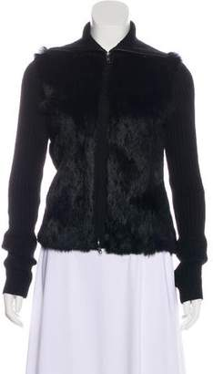 L'Agence Knit Fur Jacket