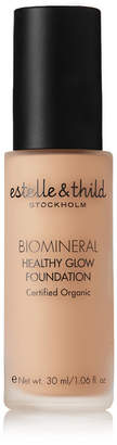 Estelle & Thild Biomineral Healthy Glow Foundation - Medium Yellow 123, 30ml