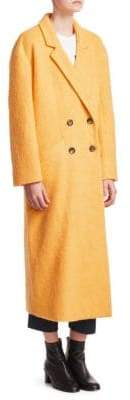 Cinq à Sept Maya Long Mohair-Blend Boxy Coat