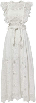 Nightcap Clothing Eyelet Apron Dress