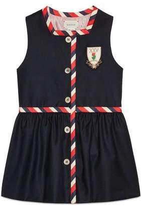 Gucci Children's wool dress with crest