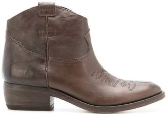 P.A.R.O.S.H. embossed design cowboy boots