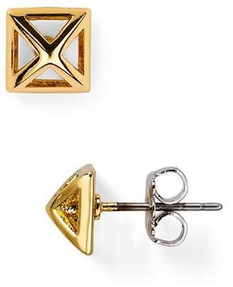 Rebecca Minkoff Pyramid Cut-Out Stud Earrings