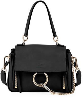 Chloé Faye Daye Mini Leather/Suede Shoulder Bag