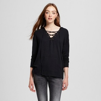 Mossimo Supply Co. Women's Lace Up Hoodie - Mossimo Supply Co. $17.99 thestylecure.com