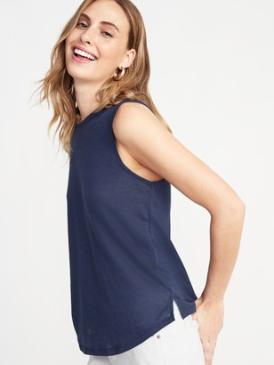 Old Navy Relaxed Tie-Back Linen-Blend Sleeveless Top For Women
