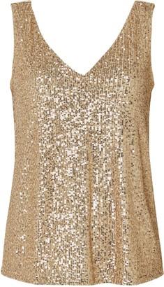 Wallis PETITE Gold Sequin Camisole Top