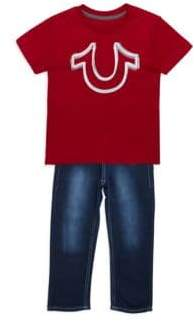 True Religion Little Boy's Two-Piece Top and Fading Jeans