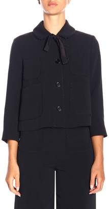 RED Valentino Jacket Short Jacket With Bow And 3/4 Sleeves