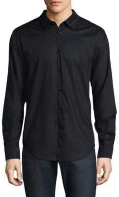 John Varvatos Polka-Dot Button-Down Shirt