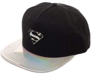 DC Comics Superman Women's Superman Metallic Flat Bill Hat