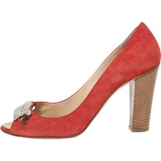 Giuseppe Zanotti Red Suede Heels