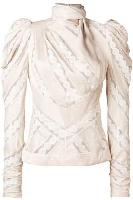 Zimmermann pattern longsleeved blouse