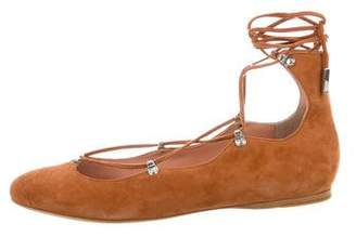 Sigerson Morrison Suede Lace-Up Flats w/ Tags