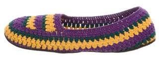 Prada Round-Toe Crochet Slippers