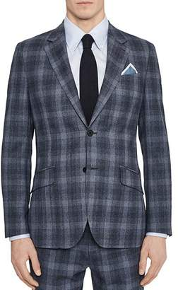 Reiss Bond Checked Wool Slim Fit Suit Jacket