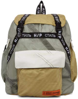 Heron Preston SSENSE Exclusive Grey JUMP Backpack