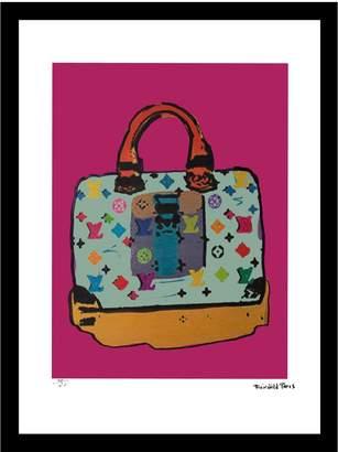 Fashion Flash Blue Murakami Vintage Louis Vuitton ad by Fairchild Paris (Framed)