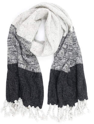 Quinn Cable Knit Ombre Cashmere Scarf