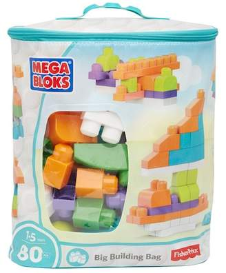 Mega Bloks Mattel Inc. Builder's First Big Building Bag