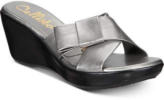 Callisto Freeport Platform Wedge Sandals, Created for Macy's