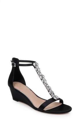 Badgley Mischka Darrell Embellished Wedge Sandal