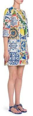 Dolce & Gabbana Maiolica Print Shift Dress