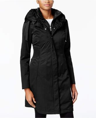 T Tahari Ruched-Waist 3-in-1 Raincoat