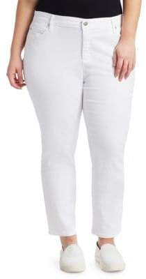Eileen Fisher Eileen Fisher, Plus Size Plus System Slim Ankle Jeans