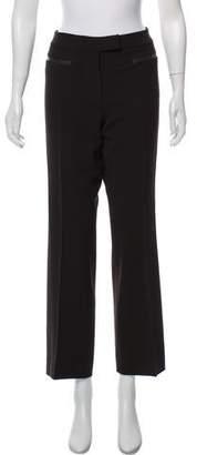 Max Mara Mid-Rise Wool Wide-Leg Pants