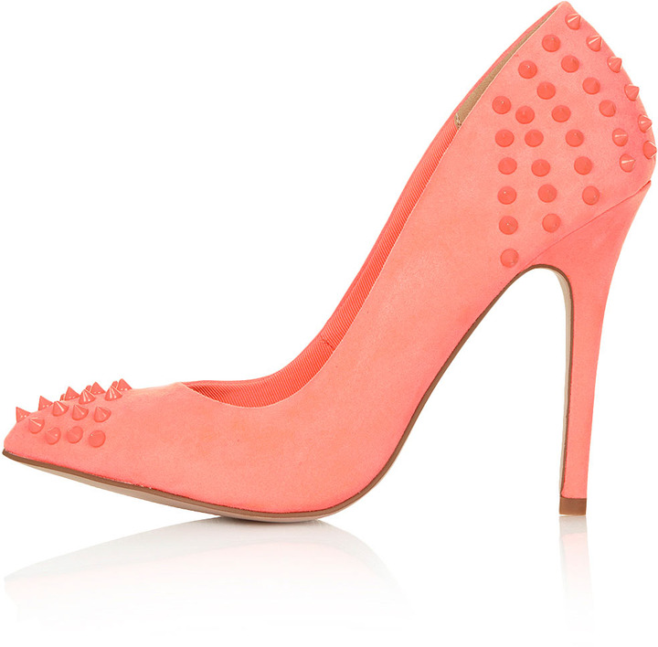 Topshop GRIZZLY Studded Pointed Courts