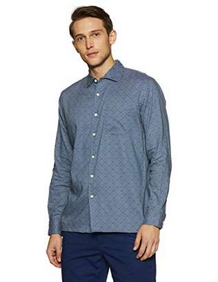 Casual Terrains Men's Classic-Fit Long-Sleeve Dotted Camp Shirt