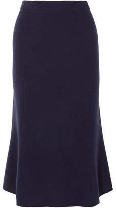 Joseph Fluted Wool Midi Skirt - Navy