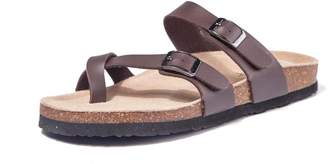 02e1b95935be TF STAR Adjustable Mayari Flat Leather Casual Sandals for Women   Ladies