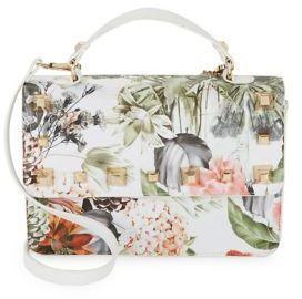 Design Lab Lord & Taylor Floral Flap Shoulder Bag